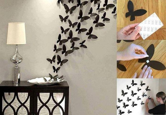 Wall Art Ideas With Diy 3D Wall Art Butterflies (Image 20 of 20)