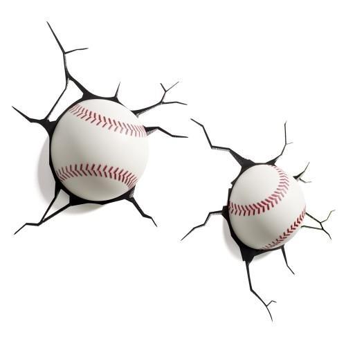 Wall Art Nightlight – Baseballs Intended For Baseball 3D Wall Art (Image 14 of 20)