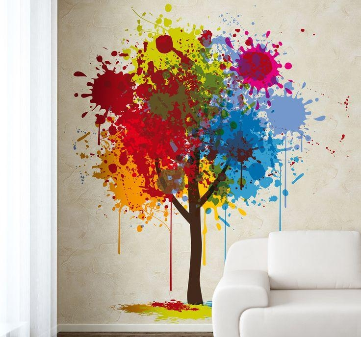 Wall Art Paint] Pinterest Shapes Paint Wall Art Island Colorfull With Regard To Unusual 3D Wall Art (View 9 of 20)