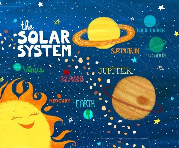 Wall Decor: Chic Solar System Wall Decor Ideas. Wall Ideas (Image 16 of 20)