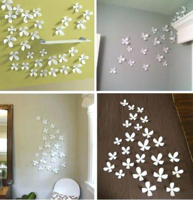 Wall Flowers Decor Flower Diy Umbra Wallflower Decoration Ideas Throughout Umbra 3D Flower Wall Art (View 18 of 20)