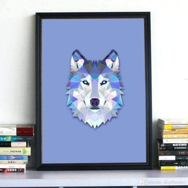 Wall Ideas : Wolf Head Vinyl Wall Stickers Wild Animal Art Wall In Wolf 3D Wall Art (View 11 of 20)