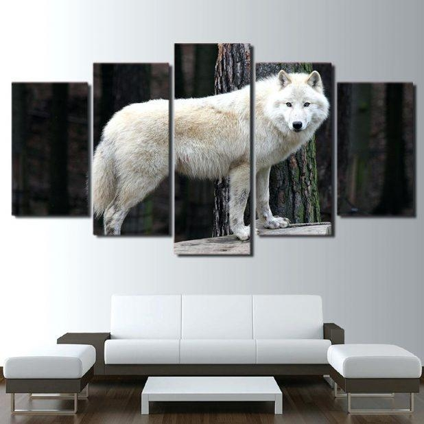 Wall Ideas : Wolf Head Vinyl Wall Stickers Wild Animal Art Wall In Wolf 3D Wall Art (View 8 of 20)