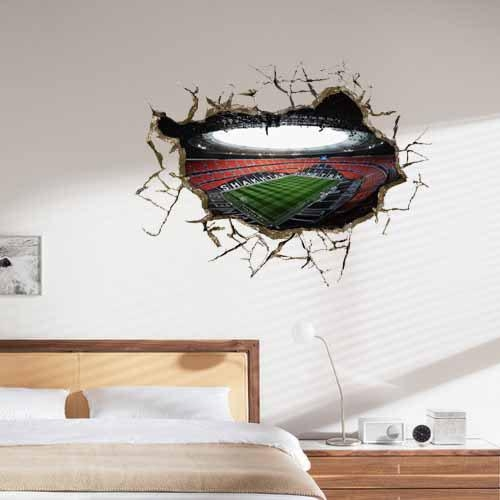Wall Outside The Football Stadium 3D Art Wall Decals/removable Pvc For Football 3D Wall Art (Image 19 of 20)