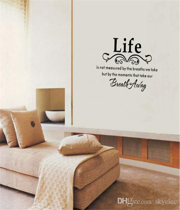 Wall Stickers Black Family Diy Removable Art Vinyl Quote Wall Inside Space 3D Vinyl Wall Art (Image 20 of 20)