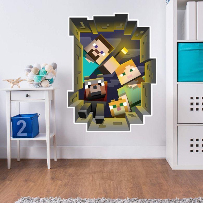 Wall Stickers Shop – Wall Art Regarding Minecraft 3D Wall Art (Image 19 of 20)