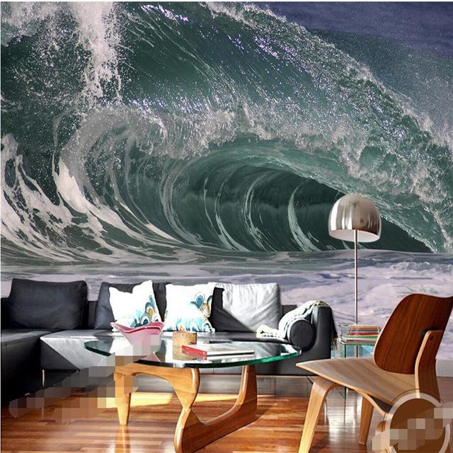 Wall Wallpaper 3D Wall Art Background Photography Artistic Ocean Inside 3D Wall Art For Bedrooms (Image 20 of 20)