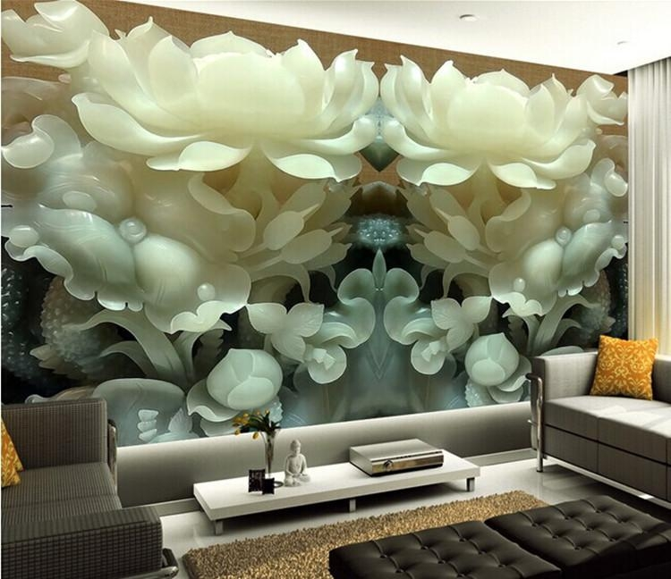 Wallpaper Living Room Picture – More Detailed Picture About Intended For 3D Wall Art Wallpaper (Image 18 of 20)