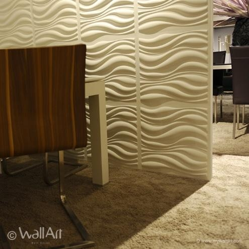 Waves Design – Decorative 3D Wall Panelswalldecor3D With Waves 3D Wall Art (Image 18 of 20)