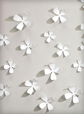 White Dogwood Wallflowers 3 D Wall Art Umbra Wall Art For 3D Pertaining To Umbra 3D Flower Wall Art (View 3 of 20)