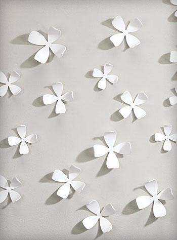 White Dogwood Wallflowers 3 D Wall Artumbra | Wall Art With Regard To Umbra 3D Wall Art (Image 20 of 20)