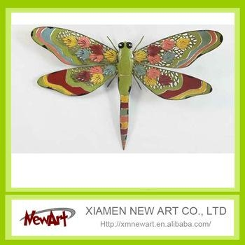 Wholesale 3D Decorative Dragonfly Home Decor Wrought Iron Metal Throughout Dragonfly 3D Wall Art (View 18 of 20)