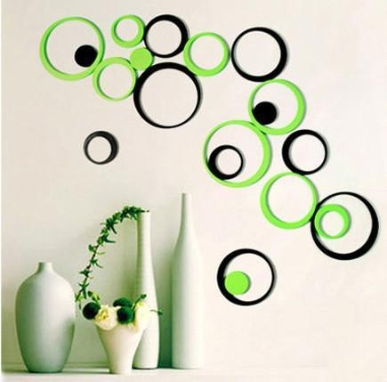 Wholesale Circle Round Bubble 3D Wood Wall Sticker Wooden Wall Inside 3D Wall Art Wholesale (Image 15 of 20)