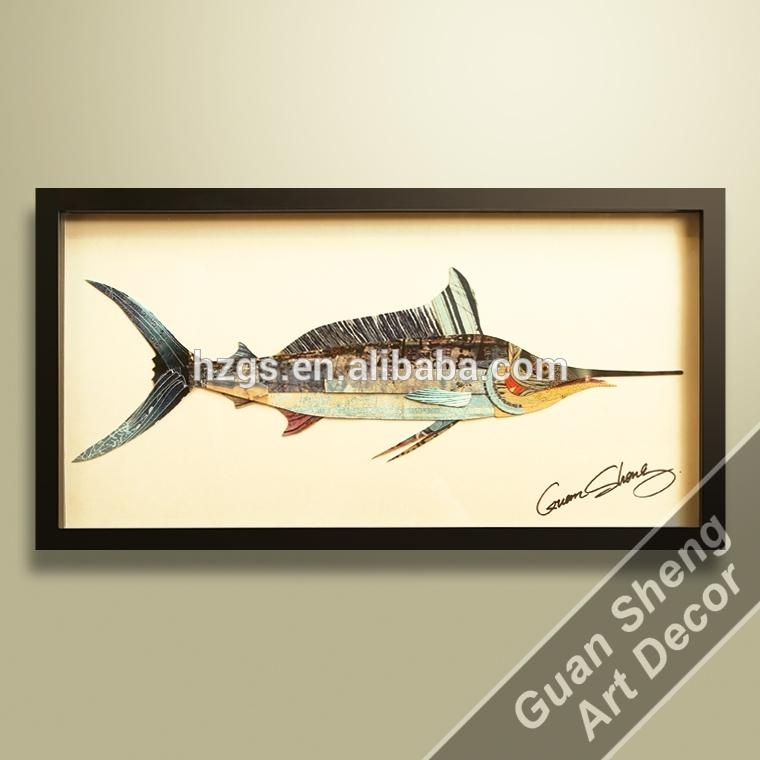 Wholesale Fish Oil Painting Abstract 3D Wall Art – Buy 3D Wall Art Within Fish 3D Wall Art (View 16 of 20)