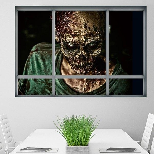 Wholesale Halloween Window Zombie 3D Wall Art Sticker For Bedrooms Within 3D Wall Art Wholesale (Image 16 of 20)