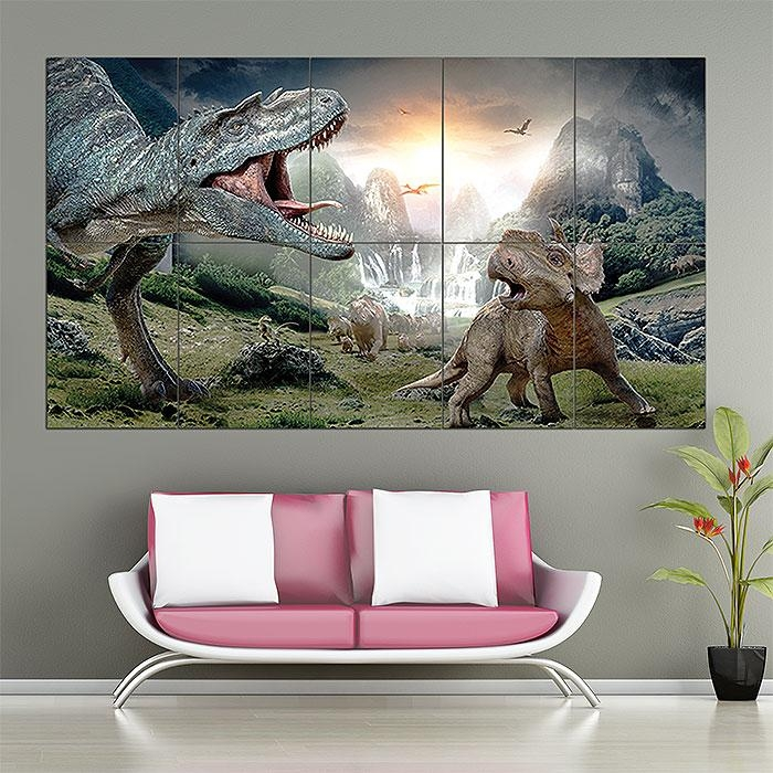 With Dinosaurs 3D Block Giant Wall Art Poster Intended For Dinosaurs 3D Wall Art (Image 20 of 20)