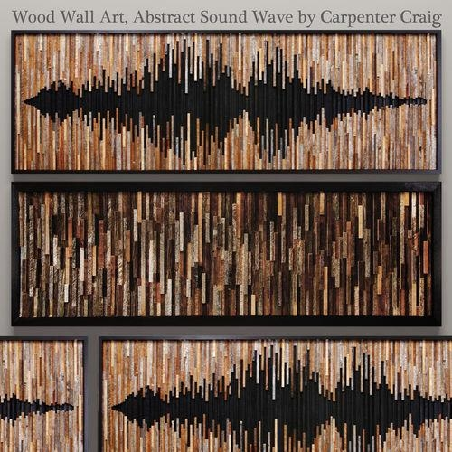 Wood Wall Art 46 3D Model | Cgtrader Pertaining To Wood 3D Wall Art (Image 17 of 20)