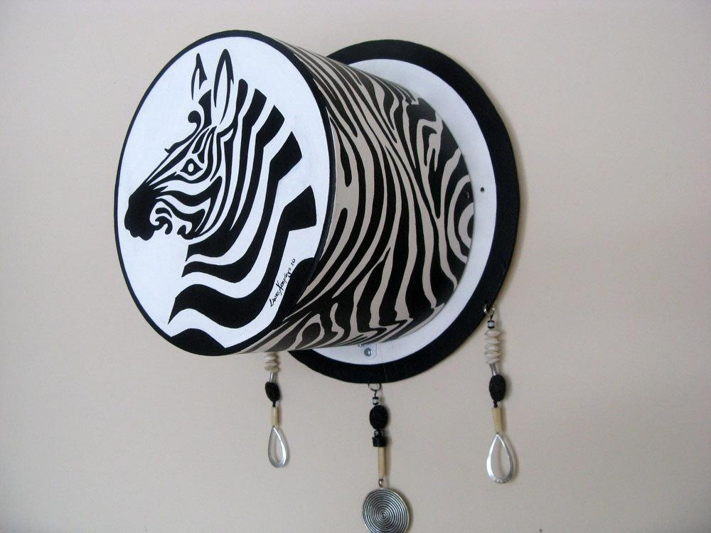 Zebra Art Painting Wall Sculpture, Black And White Wall Art Within Unique 3D Wall Art (Image 20 of 20)