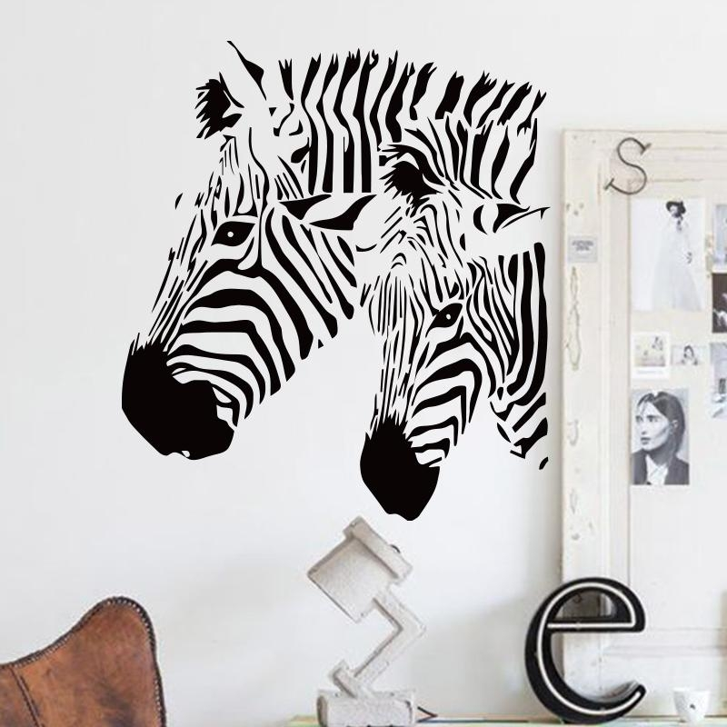 Zebra Wall Decals | Roselawnlutheran Throughout Zebra 3D Wall Art (Image 20 of 20)