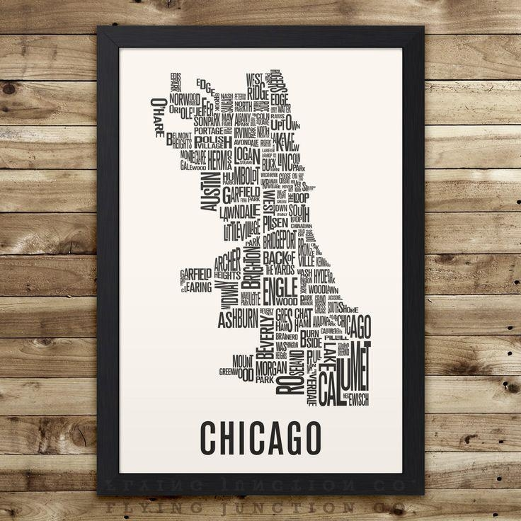 11 Best Neighborhood Typography Maps Images On Pinterest | City For Seattle Map Wall Art (View 20 of 20)