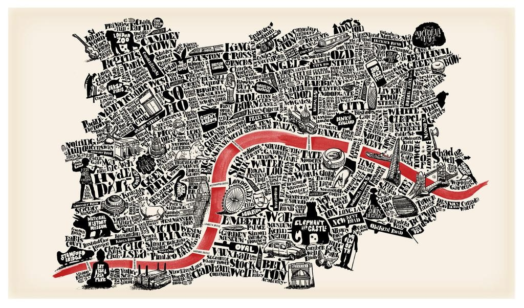 11 Hand Drawn Maps To Adorn Any London Lover's Wall – Now (View 7 of 20)
