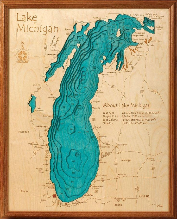 12 Best 3D Custom Lake Maps For Your Lake Images On Pinterest Inside Lake Map Wall Art (Image 1 of 20)