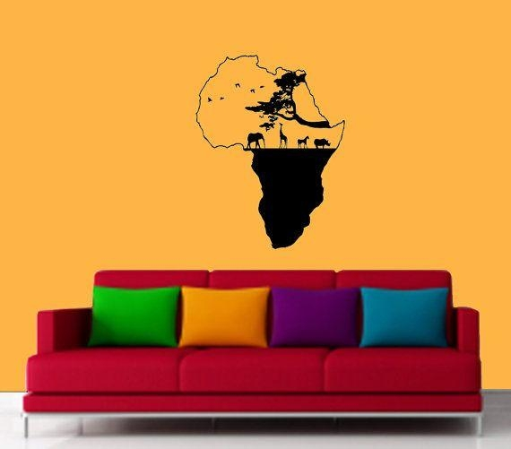 12 Best Africa Map Wall Art Images On Pinterest | Africa Map, Map Pertaining To Africa Map Wall Art (Image 1 of 20)