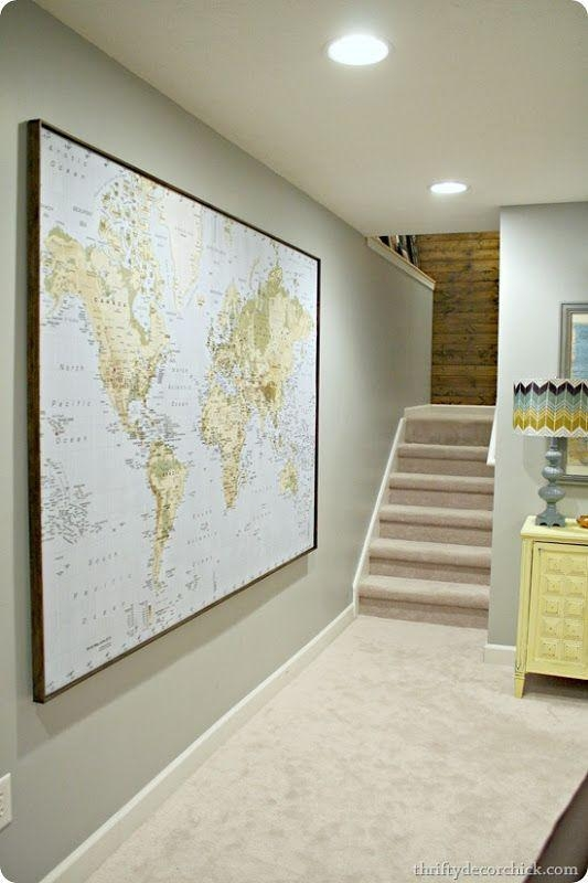 13 Best World Maps Images On Pinterest | World Maps, Worldmap And Within World Map Wall Art Framed (Image 1 of 20)