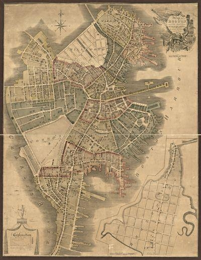 15 Best Boston Antique Maps Wall Art Images On Pinterest | Antique For Boston Map Wall Art (View 2 of 20)