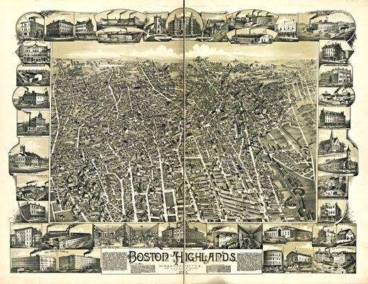 15 Best Boston Antique Maps Wall Art Images On Pinterest | Antique Inside Boston Map Wall Art (View 13 of 20)