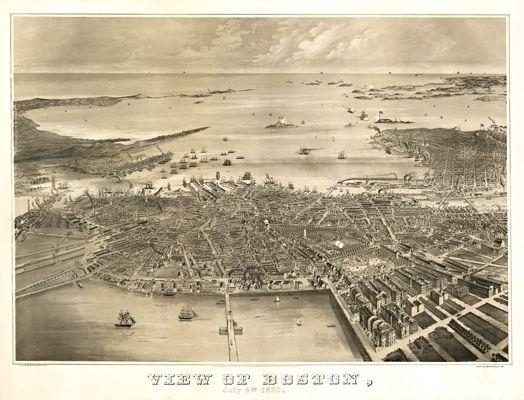 15 Best Boston Antique Maps Wall Art Images On Pinterest | Antique Intended For Boston Map Wall Art (View 3 of 20)