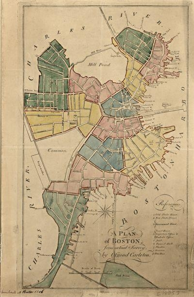 15 Best Boston Antique Maps Wall Art Images On Pinterest | Antique With Regard To Boston Map Wall Art (View 17 of 20)
