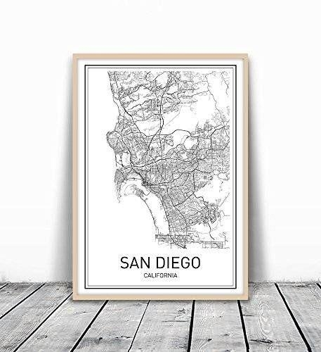 15 Best Handmade San Diego Images On Pinterest | Family Rooms Regarding San Diego Map Wall Art (Image 1 of 20)