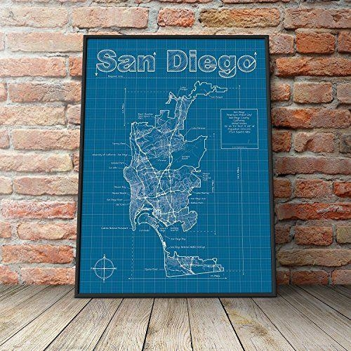15 Best Handmade San Diego Images On Pinterest | Family Rooms With Regard To San Diego Map Wall Art (Image 2 of 20)