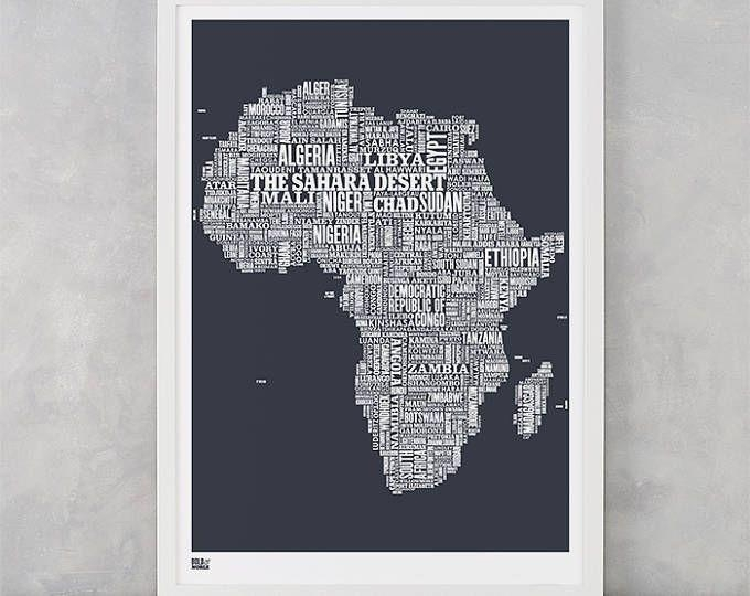 151 Best Words Wall Art Images On Pinterest | Creative Ideas Inside Africa Map Wall Art (Image 3 of 20)
