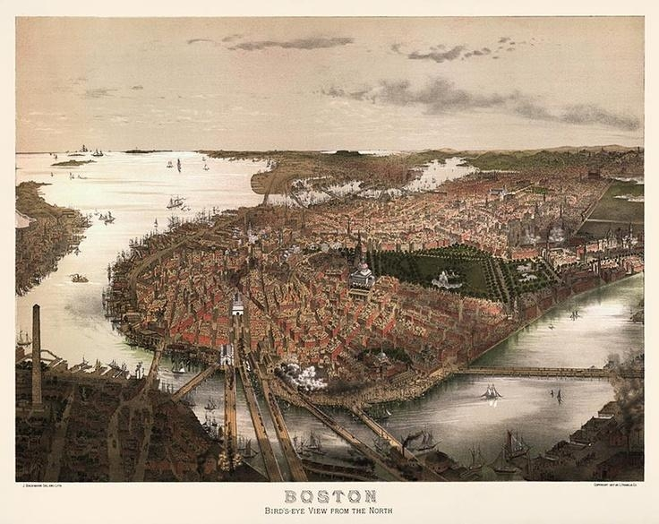 16 Best Vintage Boston Images On Pinterest | Vintage Photography With Regard To Boston Map Wall Art (View 4 of 20)