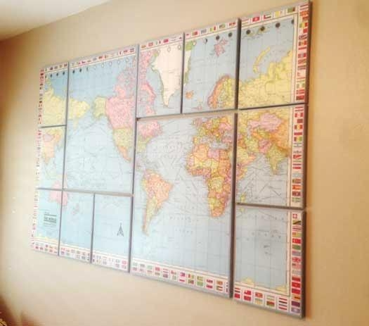 17 Cool Ideas For World Map Wall Art – Live Diy Ideas With Cool Map Wall Art (Image 3 of 20)