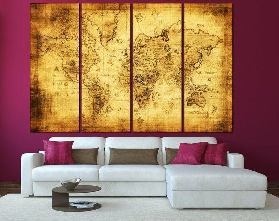 170 Best World & Country Maps Images On Pinterest | Country Maps In World Map Wall Art Canvas (View 15 of 20)