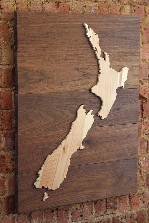 18 Best Map Art Images On Pinterest | Laser Cutting, Woodworking Within New Zealand Map Wall Art (View 4 of 20)
