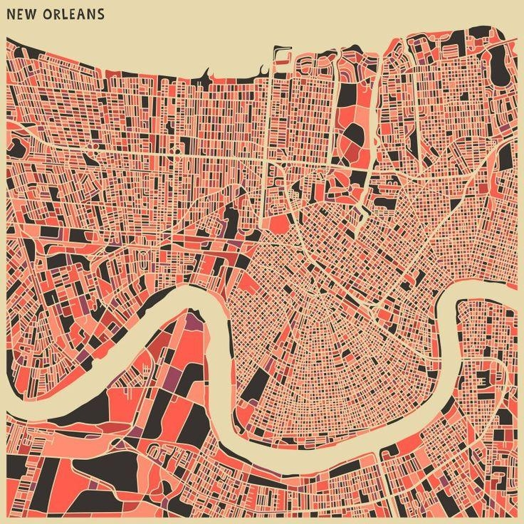 20 Best Local Designers. Images On Pinterest | New Orleans With New Orleans Map Wall Art (Photo 13 of 20)