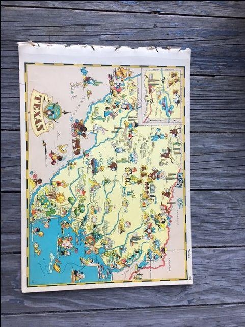 228 Best Fmn Misc Ephemera Images On Pinterest | Ephemera, Book With Houston Map Wall Art (Image 1 of 20)