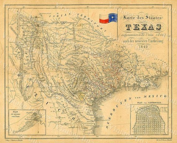 23 Best Texas Images On Pinterest | Antique Maps, Old Maps And Within Texas Map Wall Art (Image 5 of 20)