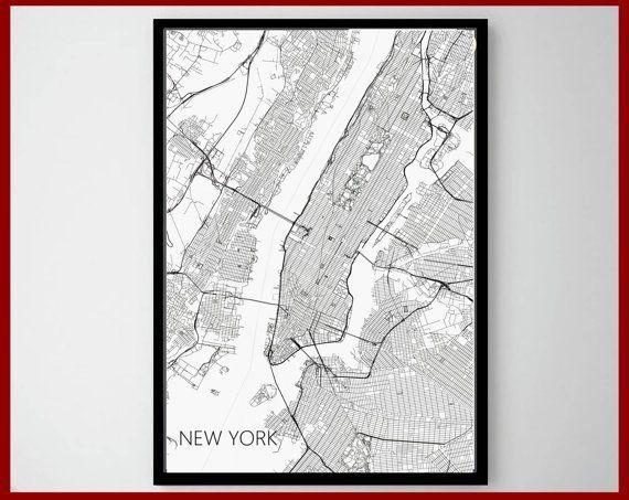 23 Best World Map Art Print Images On Pinterest | Maps Posters Regarding Street Map Wall Art (Photo 15 of 20)