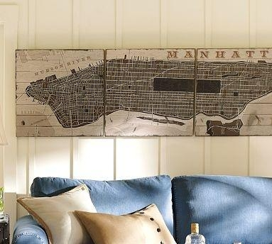 27 Best Maps Images On Pinterest | New York City, Brooklyn And With Regard To Manhattan Map Wall Art (Image 1 of 20)