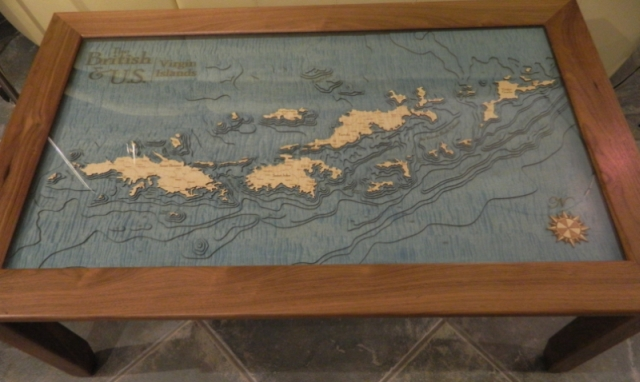 3 D Nautical Chart Art – Marine Art As Wall Charts And Table Charts With Nautical Map Wall Art (Image 3 of 20)