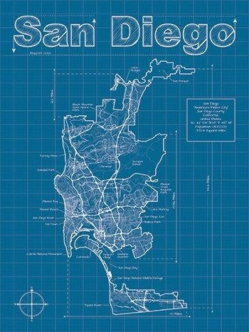 32 Best San Diego Maps Images On Pinterest | Maps, Cards And San Diego Inside San Diego Map Wall Art (Image 4 of 20)