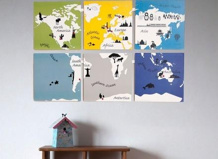 36 World Map Wall Art For Kids, World Map Art Animal World Map For Inside Kids World Map Wall Art (Image 1 of 20)