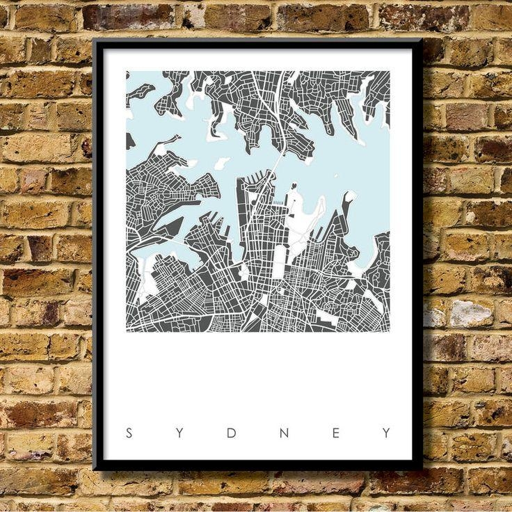 37 Best City Map Prints Images On Pinterest | City Maps, Print Pertaining To City Prints Map Wall Art (Photo 18 of 20)