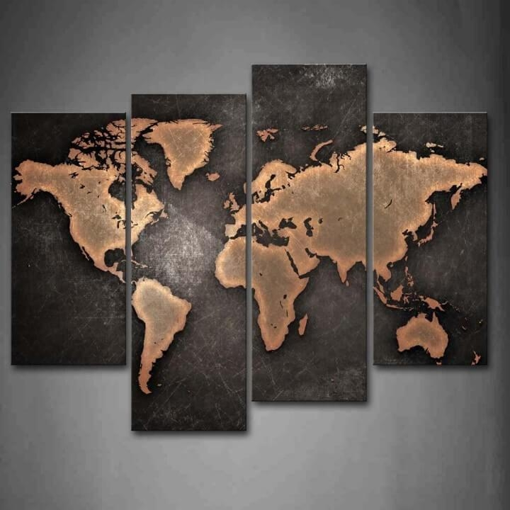 37 Eye Catching World Map Posters You Should Hang On Your Walls Pertaining To Map Wall Artwork (Image 3 of 20)