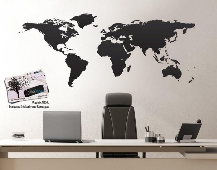 37 Eye Catching World Map Posters You Should Hang On Your Walls Pertaining To World Map Wall Art (Photo 2 of 20)